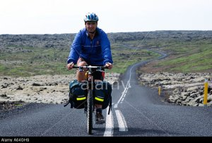 Carl Galvin Mountain Biking in Iceland during the Bike Iceland Mountain Biking Exprdition