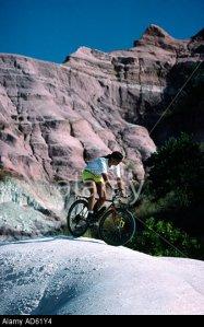 Andi Davis mountain biking in the Circe Rouge Madagascar