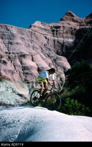Andi Davis mountain biking in the Circe Rouge Madagascar