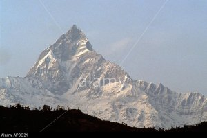 PICTURE CREDIT DOUG BLANE Machapuchare fish tail mountain in the Annapurna Range Himalayan Kingdom of Nepal